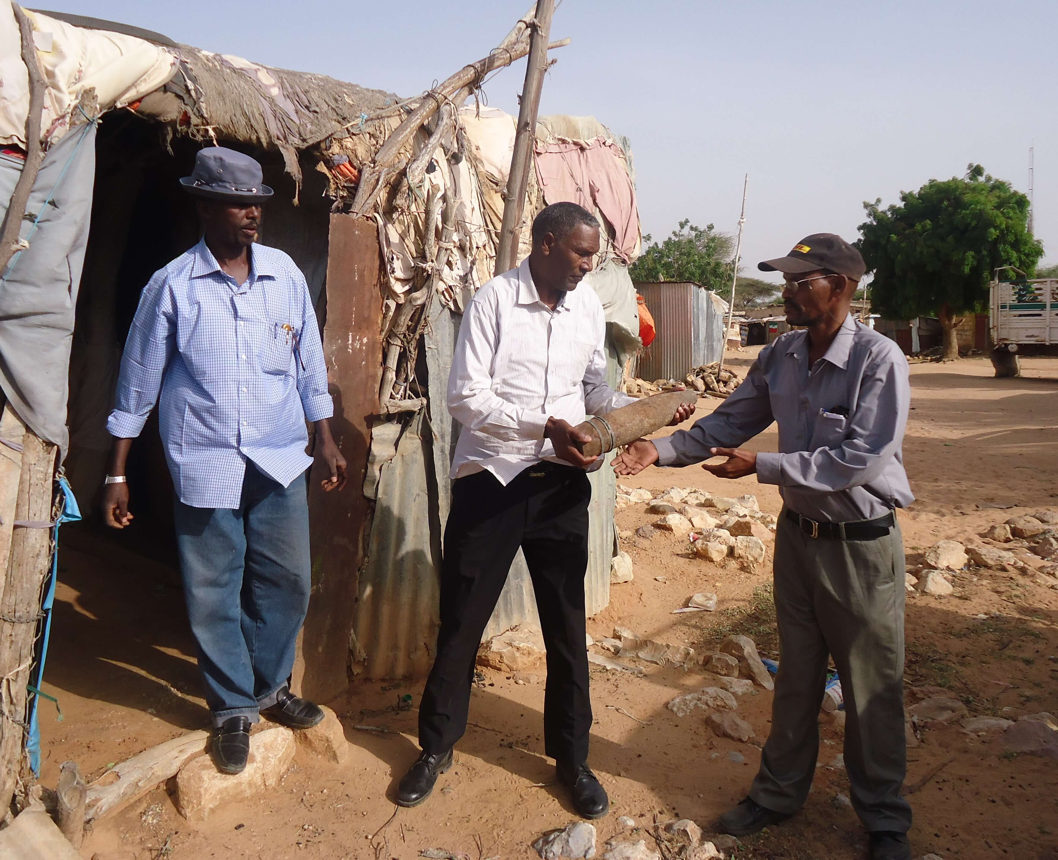 Somaliland: Disarmed ordnance remnants are removed from a private home