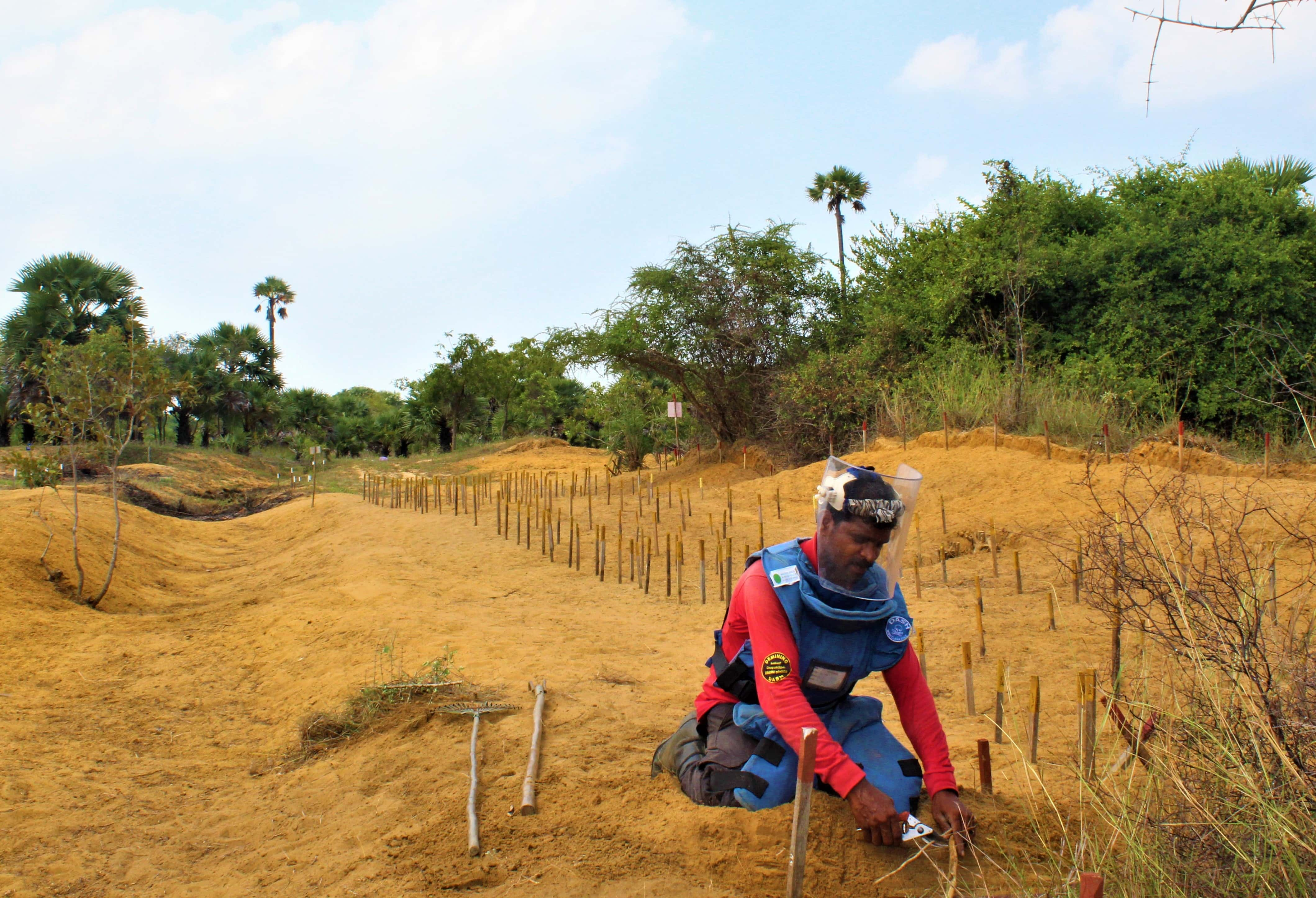 Mine clearance in the north of Sri Lanka is making life safer.