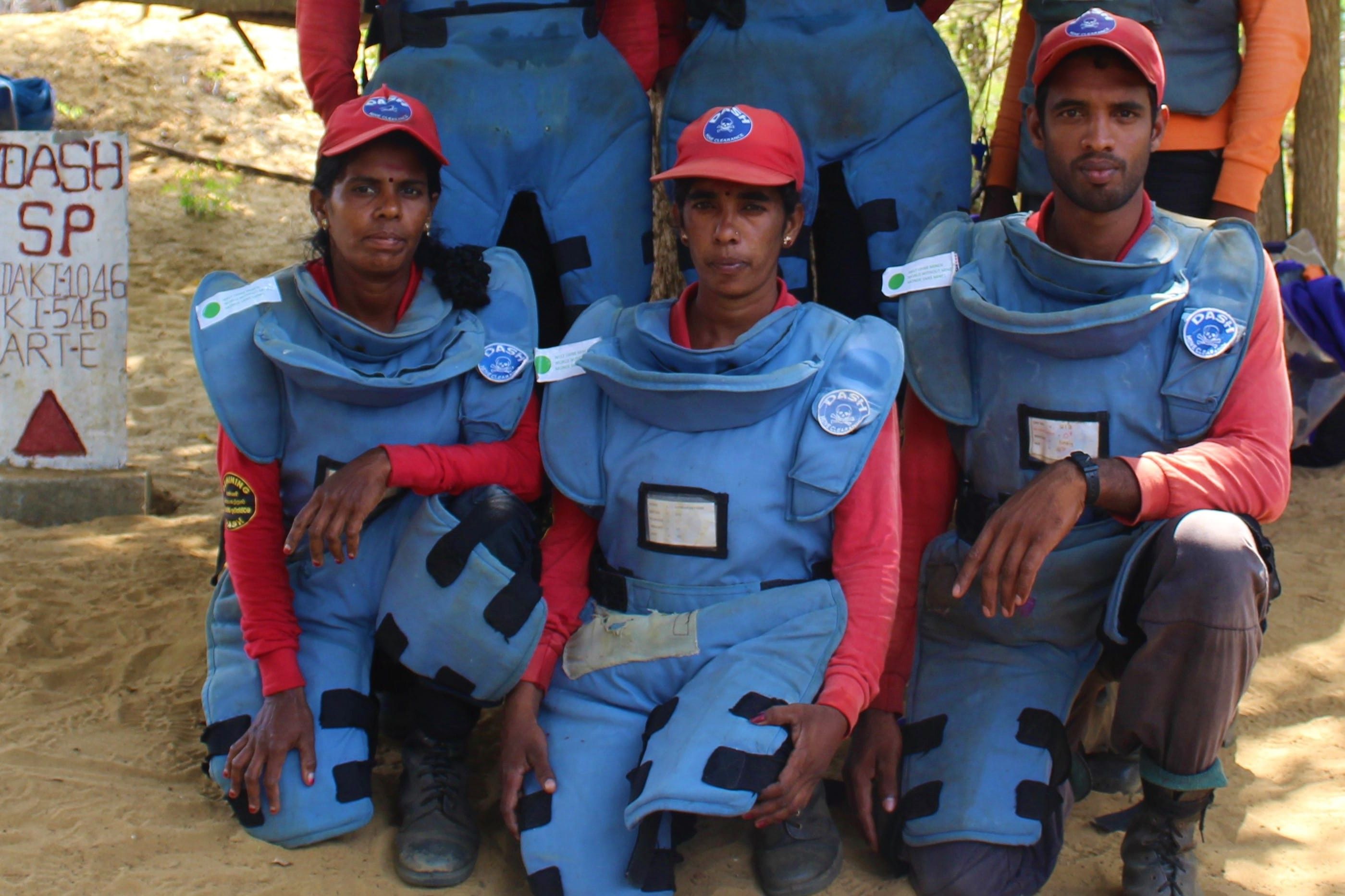 These men and women are clearing mines in Sri Lanka